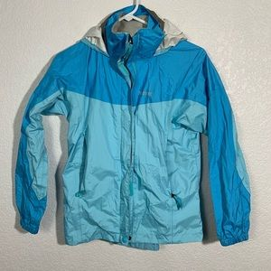 Marmot Blue Windbreaker With Hood Large